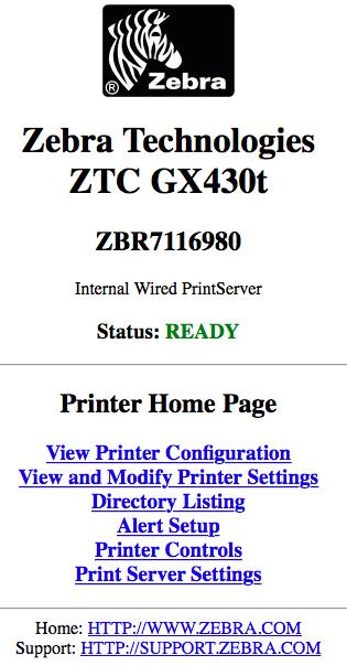 Zebra - Setup GX430t On Network - NP Retail - NaviPartner