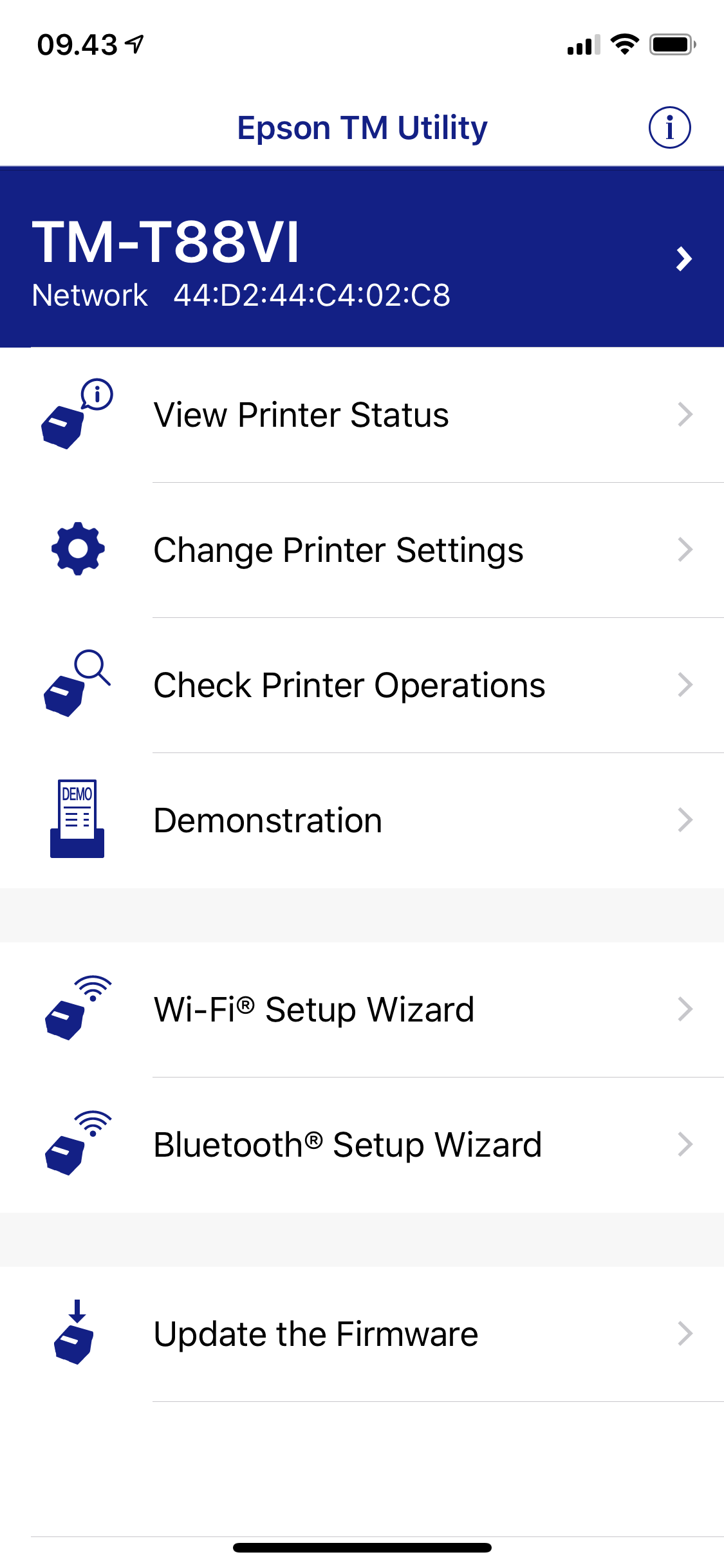 Epson TM-T88VI Firmware Update (From iOS) - NP Retail