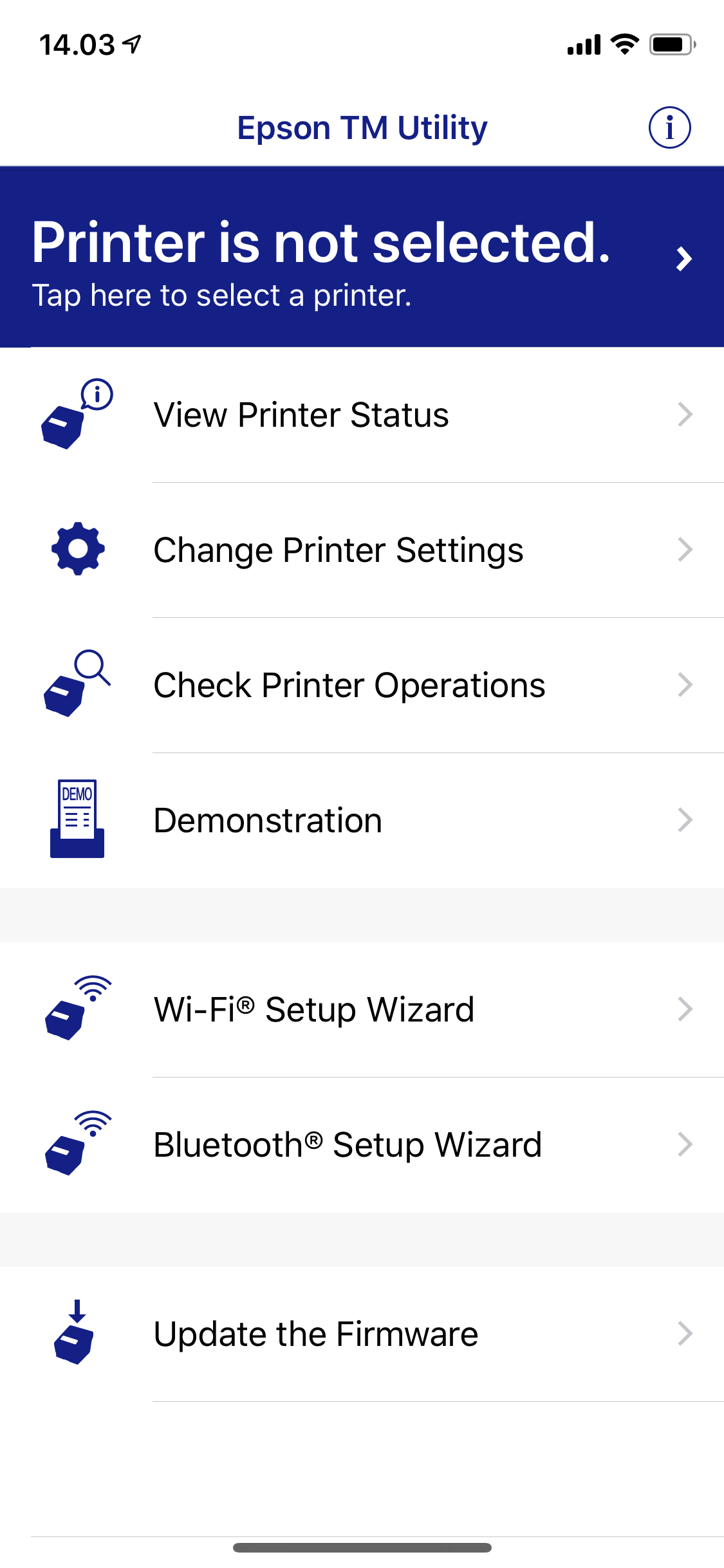 Epson TM-T88VI Firmware Update (From iOS) - NP Retail - NaviPartner